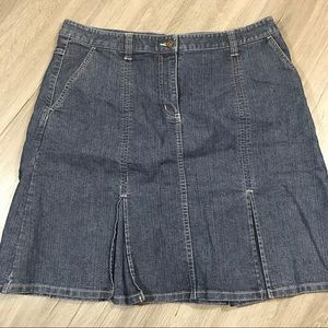Christopher & Banks A-Aline MediumWash Denim Skirt
